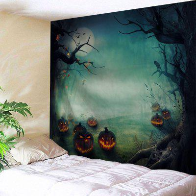 Buy COLORMIX Wall Hanging Art Decor Halloween Pumpkins Print Tapestry for $14.20 in GearBest store