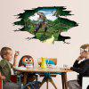 3D Dinosaur Design Creative Wall Sticker - COLORMIX