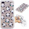Cartoon Panda Style TPU Soft Protective Case for iPhone 7 Plus - COLORMIX