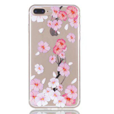 Buy CLEAR LIGHT PINK Peach Blossom Design TPU Phone Case for iPhone 7 Plus for $2.88 in GearBest store