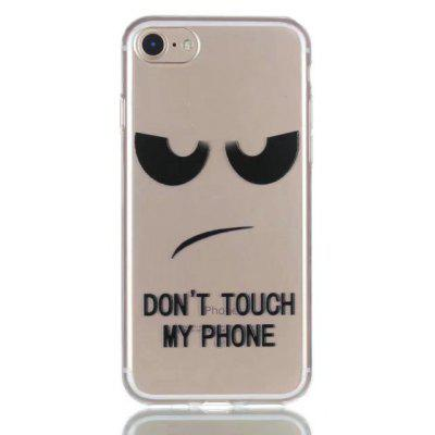 Buy BLACK Cartoon Text Style TPU Soft Phone Case for iPhone 7 for $2.88 in GearBest store