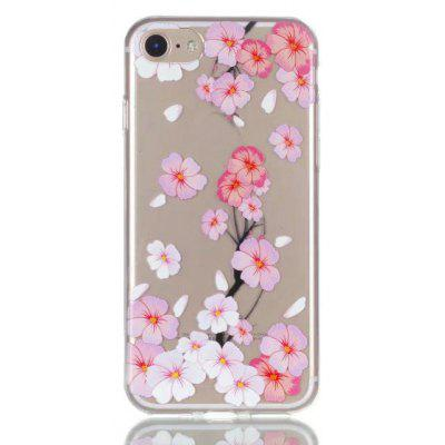 Buy CLEAR LIGHT PINK Peach Blossom Design TPU Soft Phone Case for iPhone 7 for $2.88 in GearBest store