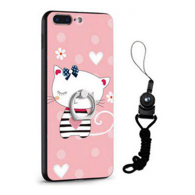 Relief Cute Cat Style Mobile Phone Cover for iPhone 7 Plus