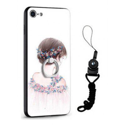 Buy COLORMIX Relief Pretty Girl Painting Design Mobile Cover for iPhone 7 for $5.71 in GearBest store