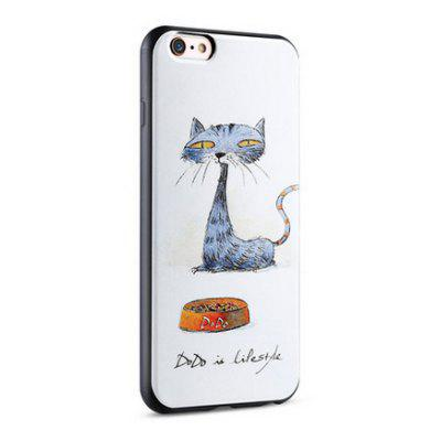 Cartoon Cat Silicone Soft Protective Back Cover Case for iPhone 6 Plus / 6S Plus