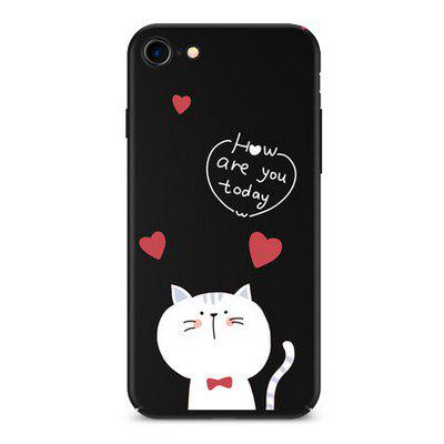 Fat Cat Cartoon Style PC Lanyard Phone Cover Case for iPhone 7
