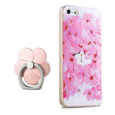 Showy Flower Pattern Design Cover Case para iPhone 5 / 5S / SE