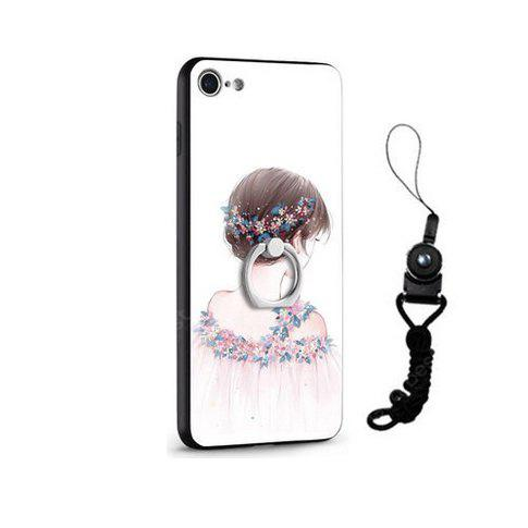 Relief Pretty Girl Painting Design Housse mobile pour iPhone 7