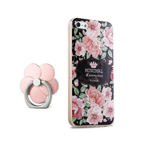 Caixa de capa colorida design floristic para iPhone 5 / 5S / SE