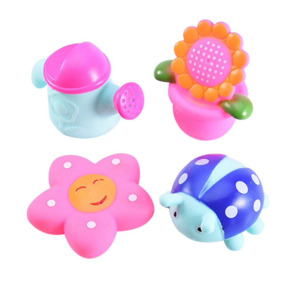 4pcs Kids Squeeze Squeak Bath Toys