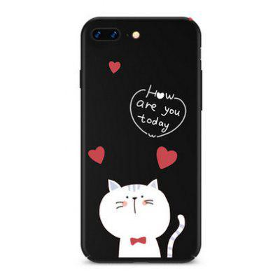 Buy BLACK Cute Cat Cartoon Theme Mobile Protective Shell for iPhone 7 Plus for $8.90 in GearBest store