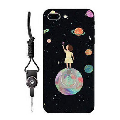 Stars and Girl Style Ring Holder Phone Case for iPhone 7 Plus