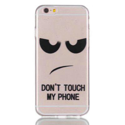 Buy BLACK Cartoon Style TPU Soft Phone Case for iPhone 6 Plus / 6S Plus for $3.16 in GearBest store