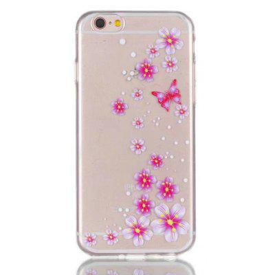 Soft TPU Pink Flower Theme Back Cover for iPhone 6 Plus / 6S Plus