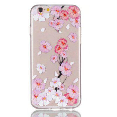 Soft TPU Peach Blossom Theme Back Cover for iPhone 6 Plus / 6S Plus