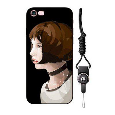 Relievo Short Hair Woman Phone Back Case for iPhone 6 / 6S