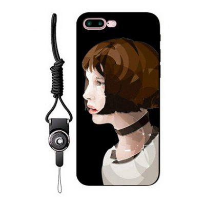 Relievo Short Hair Woman Mobile Case for iPhone 7 Plus