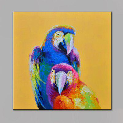 Buy COLORMIX YHHP Animal Parrot Head Canvas Oil Painting for $28.40 in GearBest store