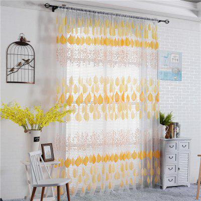 1PC Leaves Pattern Window CurtainWindow Treatments<br>1PC Leaves Pattern Window Curtain<br><br>Category: Curtain<br>For: All<br>Material: Polyester fibre<br>Occasion: Bedroom, Living Room, Office<br>Package Contents: 1 x Window Curtain<br>Package size (L x W x H): 35.00 x 28.00 x 2.00 cm / 13.78 x 11.02 x 0.79 inches<br>Package weight: 0.1300 kg<br>Product size (L x W x H): 200.00 x 100.00 x 0.10 cm / 78.74 x 39.37 x 0.04 inches<br>Product weight: 0.1000 kg<br>Type: Eco-friendly, Decoration