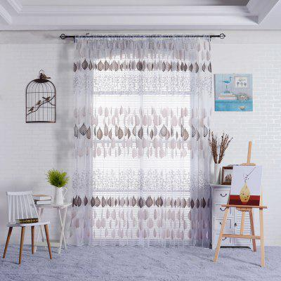 1PC Leaves Pattern Window Curtain