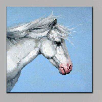 YHHP Colorful Steed Head Canvas Oil Painting