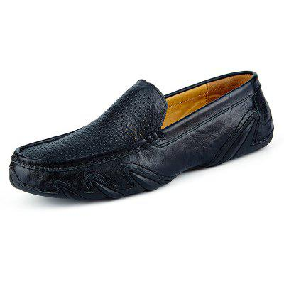 Male Business Hollow Soft Pattern Slip On Oxford Shoes