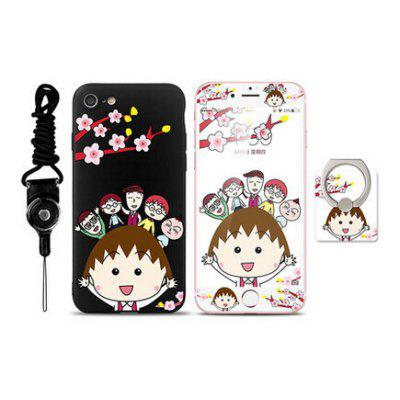 Cartoon Cute Girl Pattern Cover Case for iPhone 7