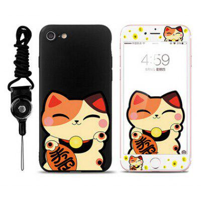 Cartoon Silicone Drop Resistance Full Cover Case for iPhone 7