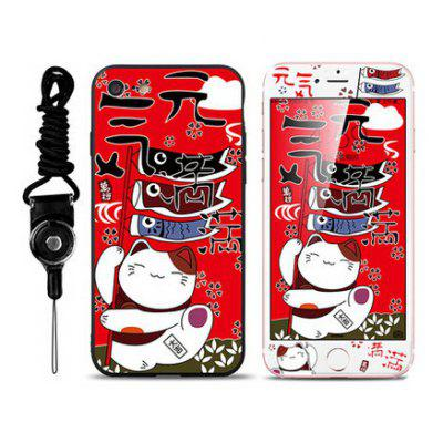 Cartoon Fat Cat Pattern Cover Case for iPhone 7