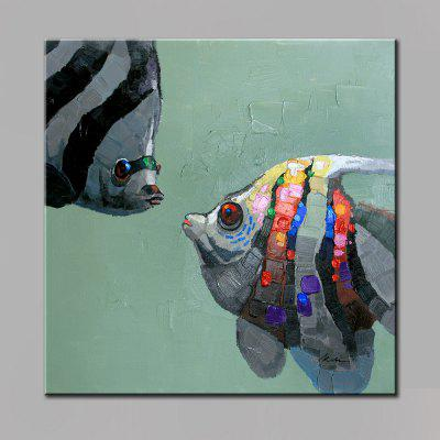 YHHP Casal Fish Head Canvas Oil Painting