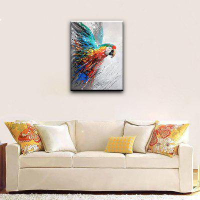 YHHP Colorful Parrot Head Canvas Oil Painting