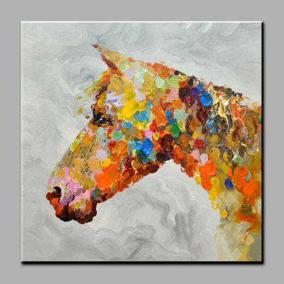 YHHP Abstract Colorful Horse Head Canvas Oil Painting