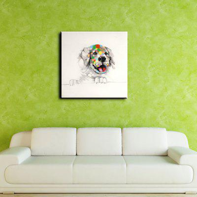 YHHP Colorful Dog Canvas Unframed Oil PaintingOil Paintings<br>YHHP Colorful Dog Canvas Unframed Oil Painting<br><br>Brand: YHHP<br>Craft: Oil Painting<br>Form: One Panel<br>Material: Canvas<br>Package Contents: 1 x Painting<br>Package size (L x W x H): 92.00 x 5.00 x 5.00 cm / 36.22 x 1.97 x 1.97 inches<br>Package weight: 0.3500 kg<br>Painting: Without Inner Frame<br>Product size (L x W x H): 80.00 x 80.00 x 1.00 cm / 31.5 x 31.5 x 0.39 inches<br>Product weight: 0.2500 kg<br>Shape: Square<br>Style: Modern<br>Subjects: Animal<br>Suitable Space: Bedroom,Dining Room,Hotel,Living Room