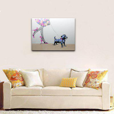 YHHP Hand Painted Walk Dog Canvas Oil PaintingOil Paintings<br>YHHP Hand Painted Walk Dog Canvas Oil Painting<br><br>Brand: YHHP<br>Craft: Oil Painting<br>Form: One Panel<br>Material: Canvas<br>Package Contents: 1 x Painting<br>Package size (L x W x H): 62.00 x 4.00 x 4.00 cm / 24.41 x 1.57 x 1.57 inches<br>Package weight: 0.2200 kg<br>Painting: Without Inner Frame<br>Product size (L x W x H): 60.00 x 50.00 x 1.00 cm / 23.62 x 19.69 x 0.39 inches<br>Product weight: 0.1500 kg<br>Shape: Horizontal<br>Style: Animal<br>Subjects: Animal<br>Suitable Space: Bedroom,Hotel,Living Room