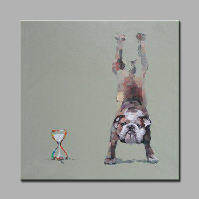Buy COLORMIX YHHP Hand Painted Sport Dog Canvas Oil Painting for $18.44 in GearBest store