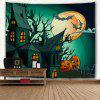 Halloween Party Decor Fabric Wall Tapestry - DEEP GREEN