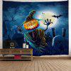 Halloween Home Decoration Wall Hanging Tapestry - NIGHT BLUE