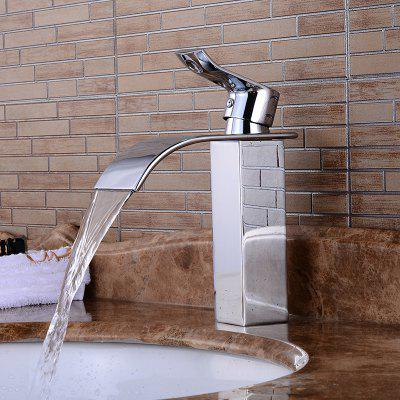 Buy SILVER Simple Single Handle One Hole Bathroom Sink Faucet for $70.70 in GearBest store