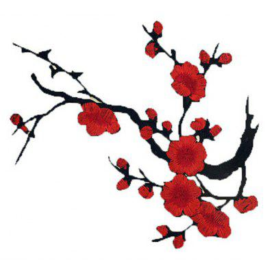 Buy COLORMIX Plum Blossom Cloth Embroidery Sticker for $2.19 in GearBest store