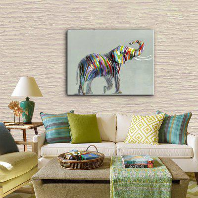 YHHP Colorful Elephant Canvas Unframed Oil PaintingOil Paintings<br>YHHP Colorful Elephant Canvas Unframed Oil Painting<br><br>Brand: YHHP<br>Craft: Oil Painting<br>Form: One Panel<br>Material: Canvas<br>Package Contents: 1 x Painting<br>Package size (L x W x H): 62.00 x 4.00 x 4.00 cm / 24.41 x 1.57 x 1.57 inches<br>Package weight: 0.2500 kg<br>Painting: Without Inner Frame<br>Product size (L x W x H): 60.00 x 50.00 x 1.00 cm / 23.62 x 19.69 x 0.39 inches<br>Product weight: 0.1500 kg<br>Shape: Horizontal<br>Style: Animal<br>Subjects: Animal<br>Suitable Space: Bedroom,Dining Room,Hotel,Living Room