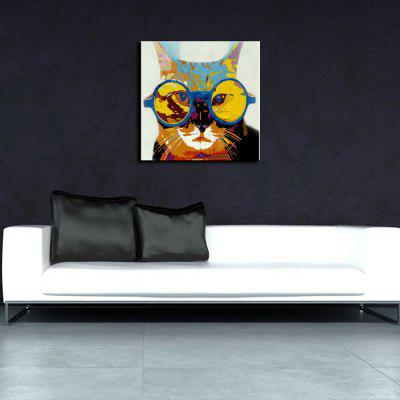 YHHP Colorful Cat Canvas Unframed Oil PaintingOil Paintings<br>YHHP Colorful Cat Canvas Unframed Oil Painting<br><br>Brand: YHHP<br>Craft: Oil Painting<br>Form: One Panel<br>Material: Canvas<br>Package Contents: 1 x Painting<br>Package size (L x W x H): 72.00 x 4.00 x 4.00 cm / 28.35 x 1.57 x 1.57 inches<br>Package weight: 0.2500 kg<br>Painting: Without Inner Frame<br>Product size (L x W x H): 60.00 x 60.00 x 1.00 cm / 23.62 x 23.62 x 0.39 inches<br>Product weight: 0.1500 kg<br>Shape: Square<br>Style: Animal<br>Subjects: Animal<br>Suitable Space: Bedroom,Dining Room,Hotel,Living Room