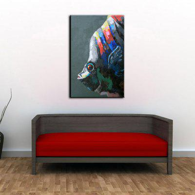 YHHP Hand Painted Fish Canvas Unframed Oil Painting стол обеденный cosmo conundrum