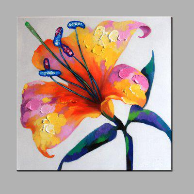 YHHP Hand Painted Flower Unframed Oil Painting