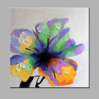 YHHP Hand Painted Flowering Plant Oil Painting