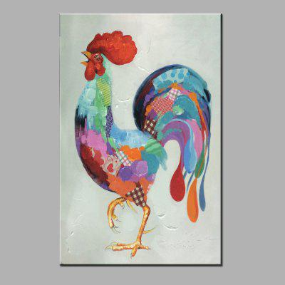 YHHP Hand Painted Cock Canvas Oil Painting