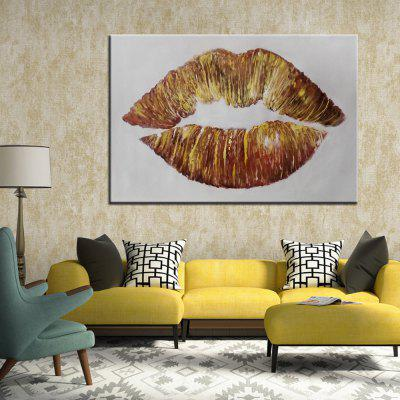 Mintura Golden Lip Hand Painted Home Decor Oil PaintingOil Paintings<br>Mintura Golden Lip Hand Painted Home Decor Oil Painting<br><br>Brand: Mintura<br>Craft: Oil Painting<br>Form: One Panel<br>Material: Canvas<br>Package Contents: 1 x Painting<br>Package size (L x W x H): 72.00 x 6.00 x 6.00 cm / 28.35 x 2.36 x 2.36 inches<br>Package weight: 0.6000 kg<br>Painting: Without Inner Frame<br>Product size (L x W x H): 60.00 x 90.00 x 0.10 cm / 23.62 x 35.43 x 0.04 inches<br>Product weight: 0.5000 kg<br>Shape: Horizontal<br>Style: Abstract<br>Subjects: Abstract<br>Suitable Space: Bedroom,Dining Room,Hotel,Living Room