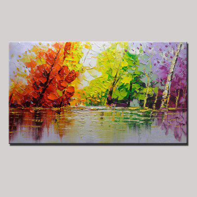 Buy COLORMIX Mintura Hand Painted Three-color Tree Oil Painting for $54.99 in GearBest store