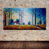Mintura Hand Painted Forest Hut Oil Painting - COLORMIX