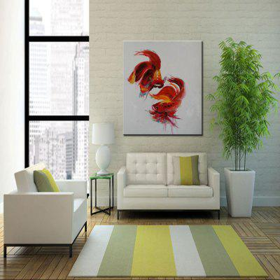 Mintura Two Red Goldfish Abstract Style Hand Painted Home Decor