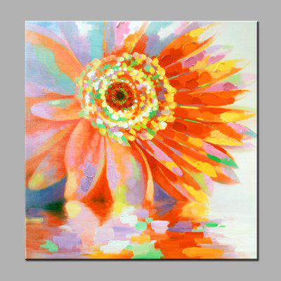 YHHP Abstract Colorful Sunflower Canvas Oil Painting